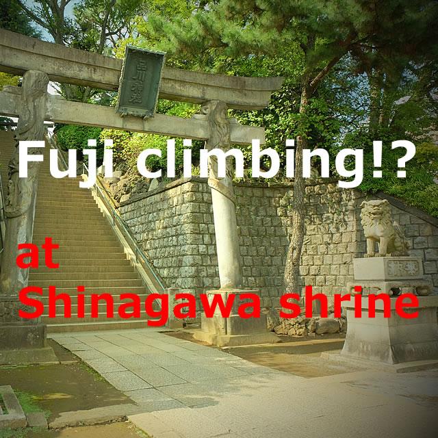 Fuji climbing!? at Shinagawa shrine(Shinagawa-ku,Tokyo)
