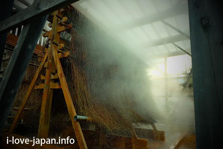umetake(Bamboo hot spring thermal cooling device)@Kannawa onsen