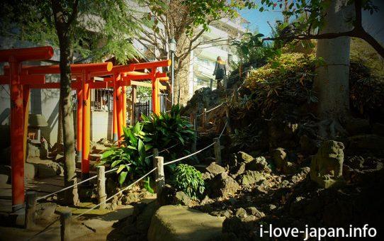 Climbing Sendagaya Fuji at the Hatomori-Hachiman jinjya shrine! (Shibuya-ku,Tokyo)