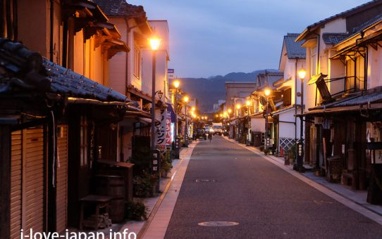"Wandering around ""Mameda-machi"" at dusk"