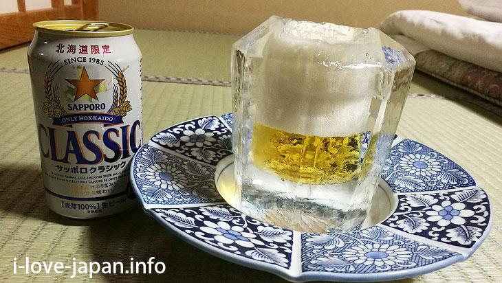 ice glass Lake Shikaribetsu Kotan/Hokkaido