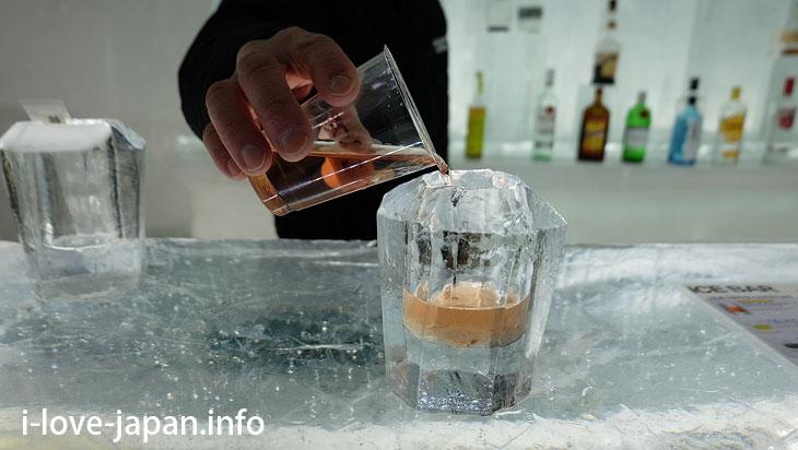 ice bar in Lake Shikaribetsu Kotan/Hokkaido