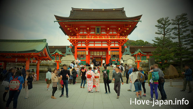 Two-storied gate(Roumon)@Fushimi Inari Taisha(Shrine)