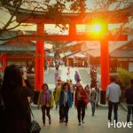 Sunset at Fushimi-Inari Taisha Shrine
