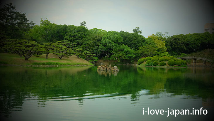 """Rockwork called """"Sengi""""@Ritsurin Garden (Takamatsu, Kagawa)"""