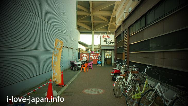 Udon shop around Takamatsu station@Sightseeing Area naer Takamatsu station,Takamatsu port(Kagawa)