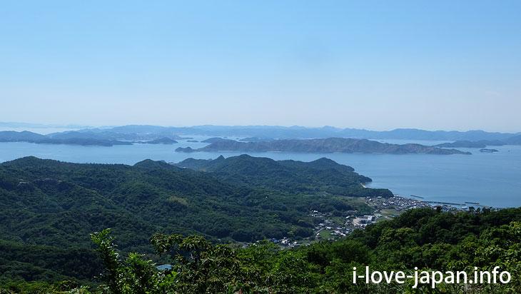 """Dan-yama mountain"" Summit Observatory@Not Only Teshima Art Museum But Also Many Sightseeing Spots in Teshima island(Kagawa)"