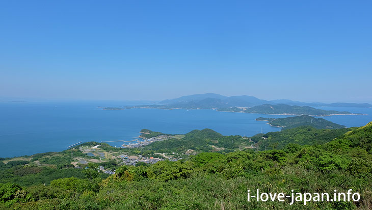 """Dan-yama mountain"" Summit Observatory@Not Only Teshima Art Museum But Also Many Sightseeing Spots in Teshima island(Kagawa)"
