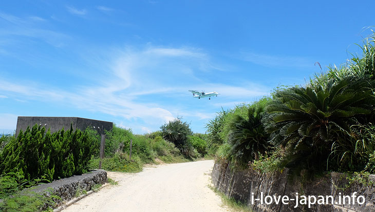White road (Coral road)in Yoron Island