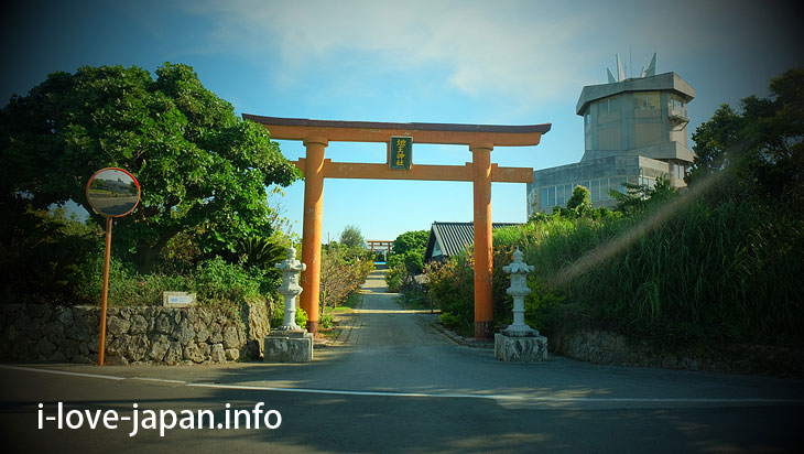 Tokonushi Shrine in Yoron Island