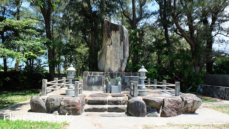 memorial monument of the suicide squad@Tokuno-shima Island Tourism(Amami/Kagoshima)